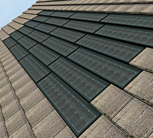Partial Solar Roof Tile Installation